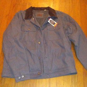 Slate Grey Sherpa Lined Woolrich Work Coat XL